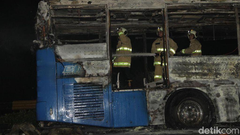 TransJ Kandangkan 60 Bus Pasca-Insiden Kebakaran di Pasar Baru