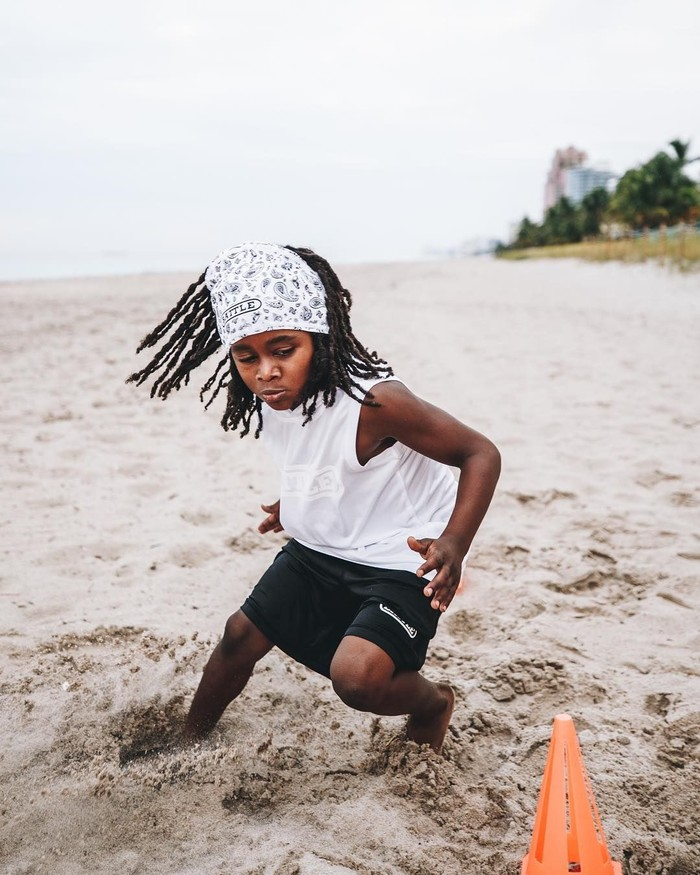 Latihan Rudolp untuk menjadi manusia tercepat di dunia sudah dimulai sejak usianya masih tiga tahun. (Foto: Instagram/blaze_813, ditampilkan atas izin yang bersangkutan)