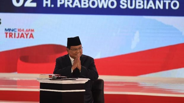 Prabowo saat debat /
