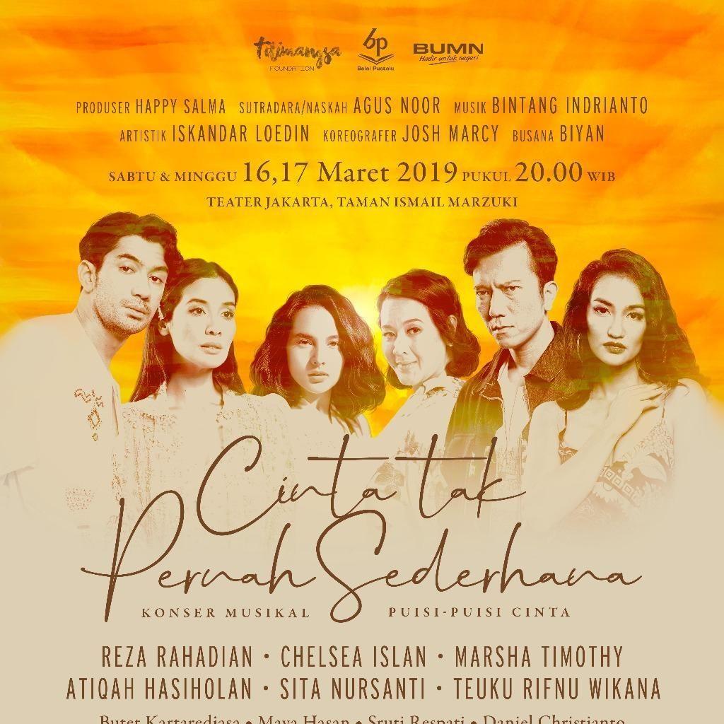 Tiket Konser Musikal Puisi-puisi Cinta Dibanderol Mulai Rp 250 Ribu