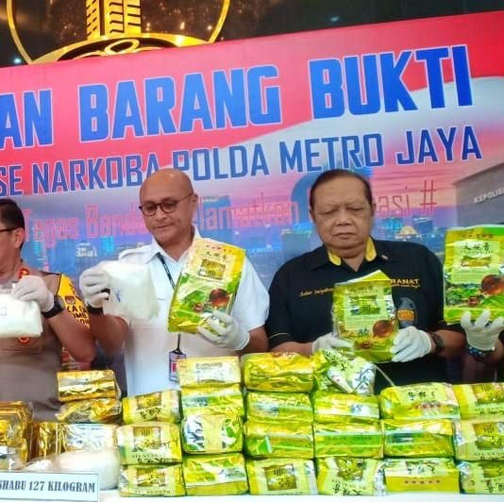 Polda Metro Jaya Musnahkan Sabu Seberat 127 Kg