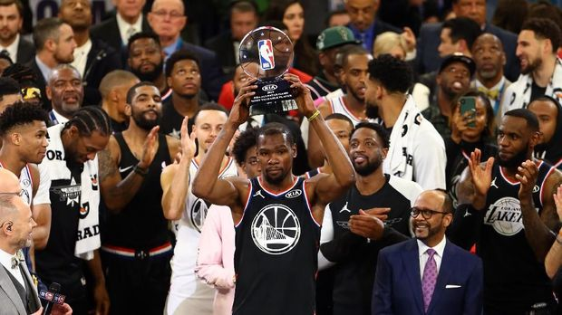 Kevin Durant jadi MVP NBA All Star.