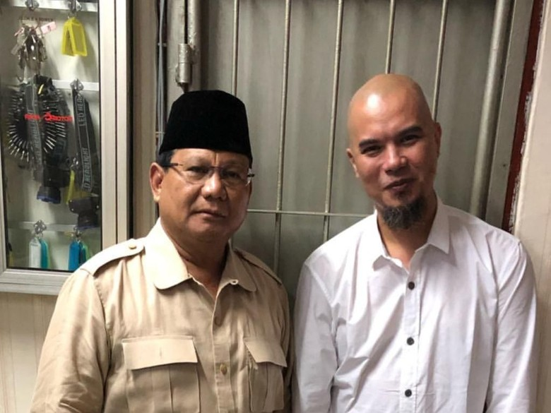 Foto: Prabowo jenguk Ahmad Dhani (Instagram Prabowo)