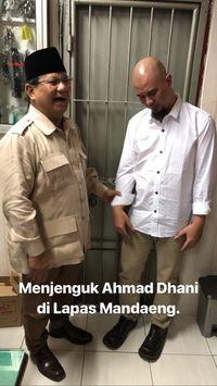 Prabowo Jenguk Ahmad Dhani di Rutan Medaeng