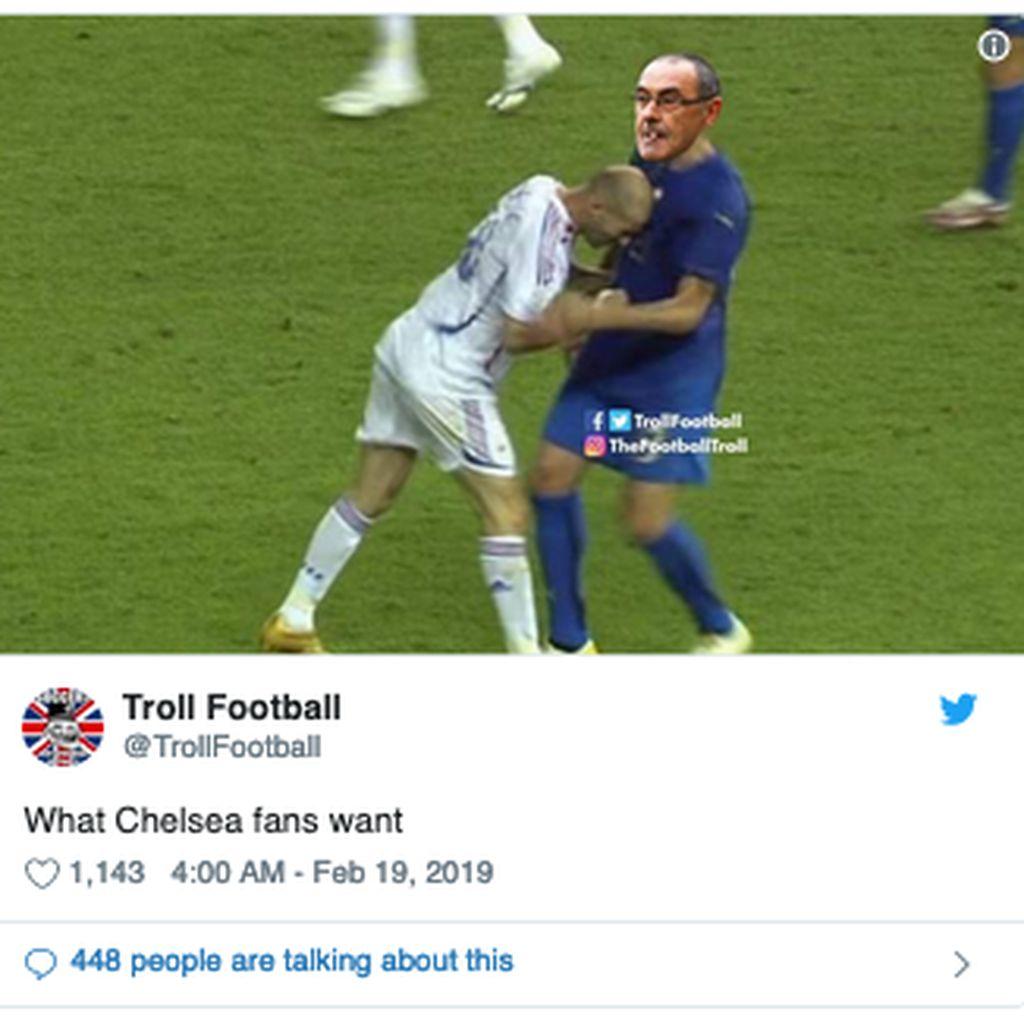 Kalah dari MU, Manajer Chelsea Jadi Bulan-bulanan Meme