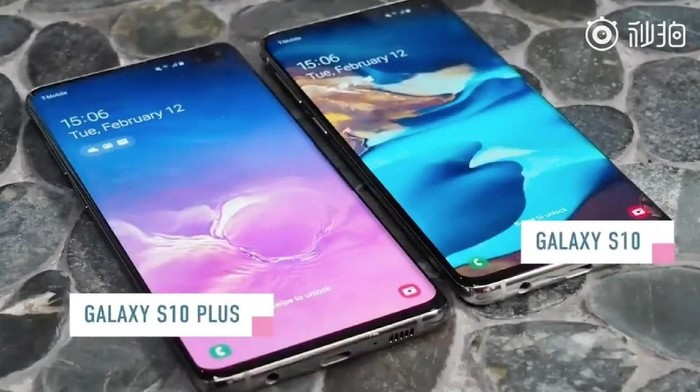 Galaxy S10 Plus dan Galaxy S10. (Foto: YouTube)