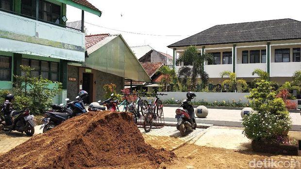 Ini Taman SMPN 2 Bandung yang Diduga Dibangun dari Hasil Pungli