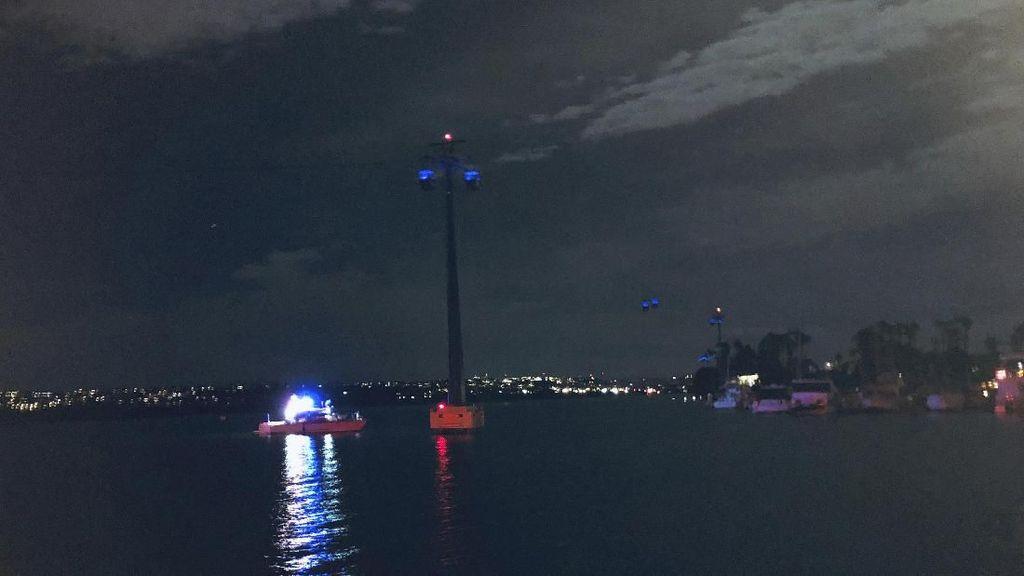 16 Orang Selamat Usai 4 Jam Terjebak di Kereta Gantung SeaWorld San Diego