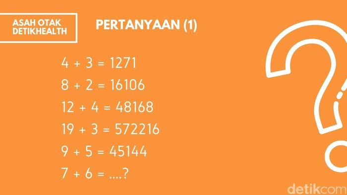 Soal matematika sederhana ini akan menguji logikamu dalam bermain angka. Jika melihat hasil dari sebelumnya, berapa jawabannya ya? (Foto: detikHealth)