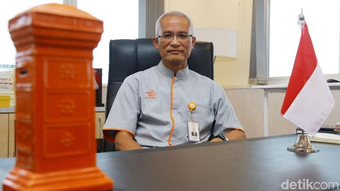 Direktur Utama Pos Indonesia Gilarsi Wahyu Setijono. Foto: Grandyos Zafna