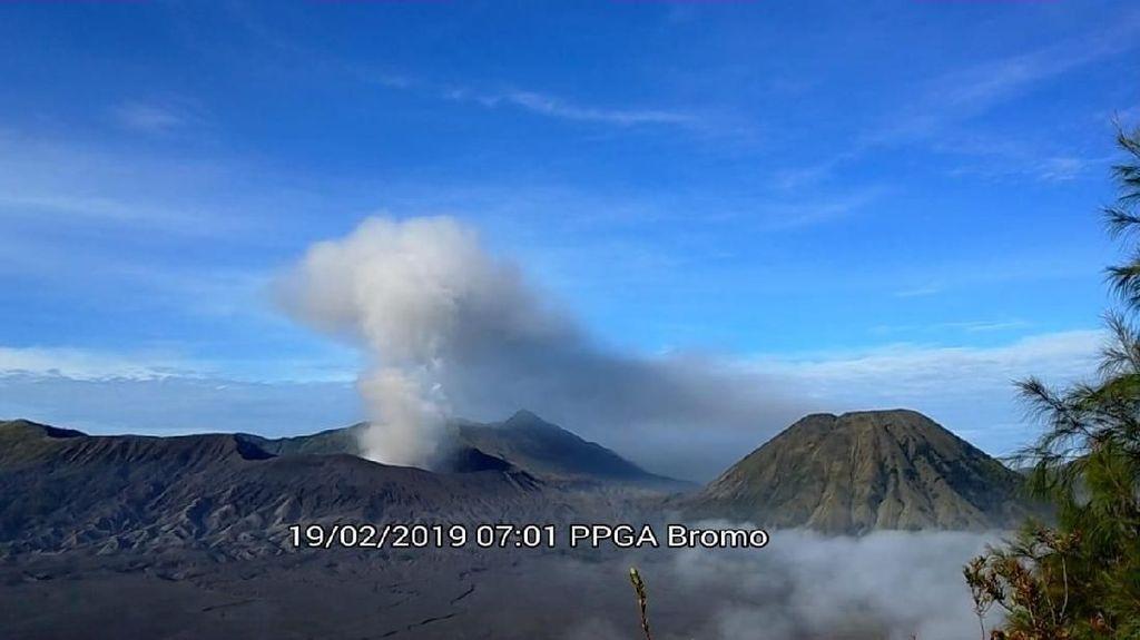 Gunung Bromo Erupsi, Abu Bergerak ke Arah Barat dan Barat Daya