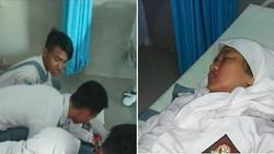Detik-detik Siswi SMA Cedera Tulang Ekor karena Kursinya Ditarik