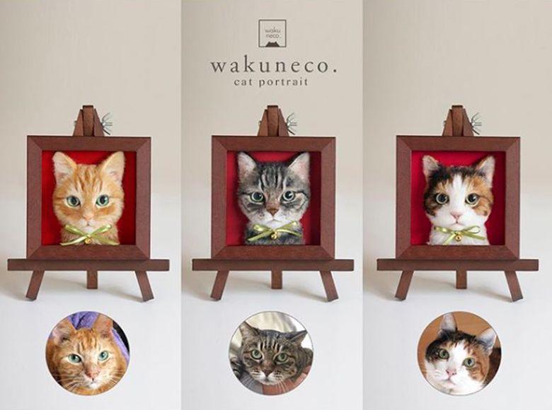 Wakuneco menjadi tenar di dunia maya berkat karya seninya menggunakan bahan wol.Dok. Instagram/wakuneco