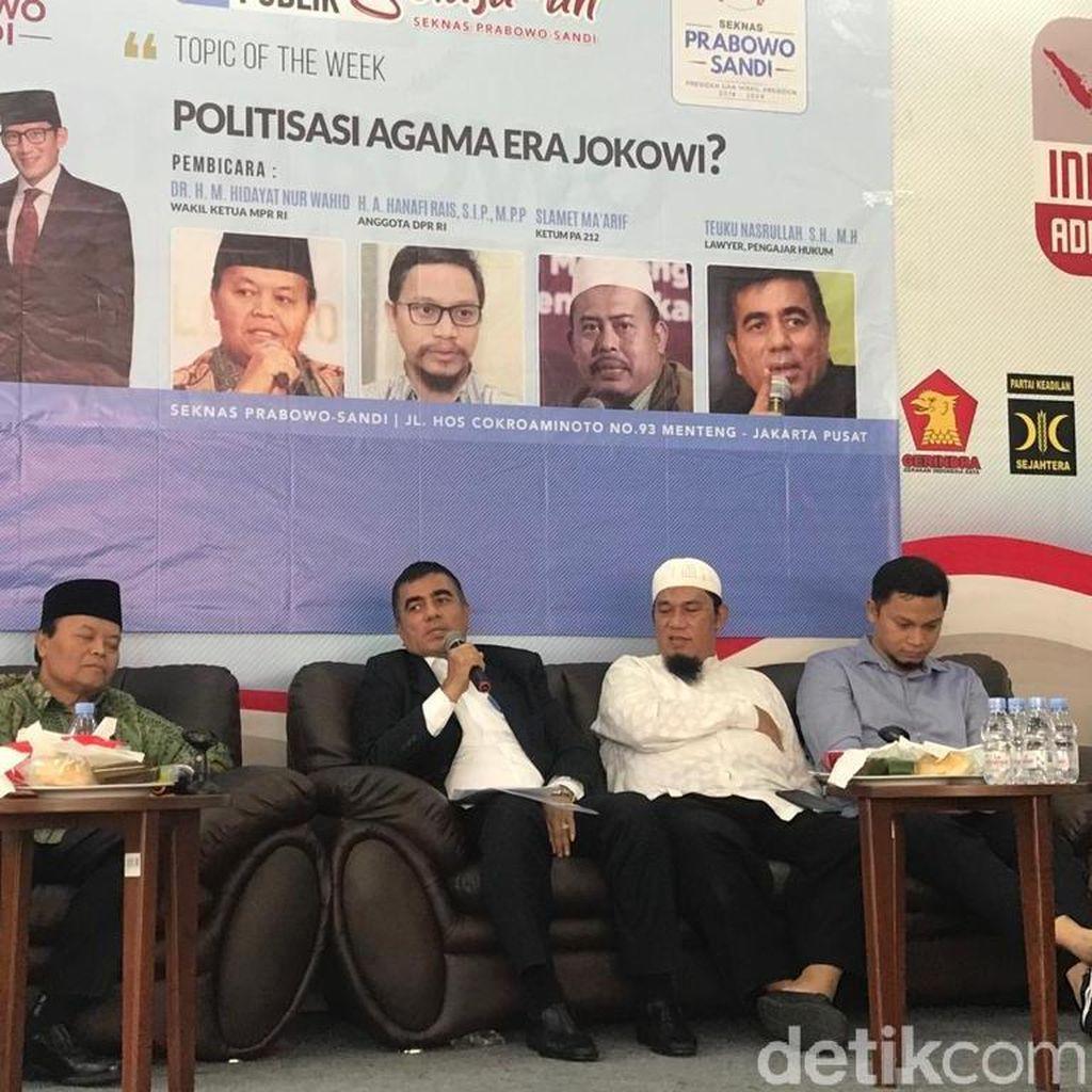 Bicara soal Politisasi Agama, HNW Singgung Janji yang Tak Ditepati