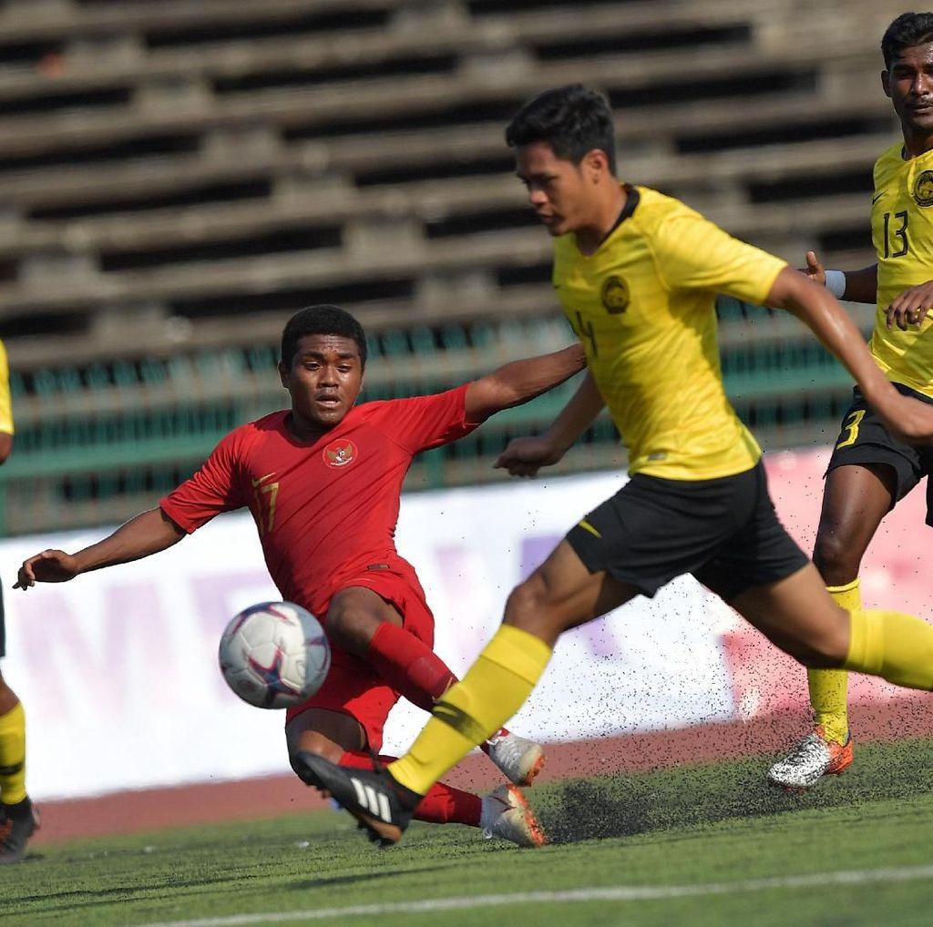 Hasil Piala AFF U-22: Dua Kali Unggul, Indonesia Ditahan Malaysia 2-2