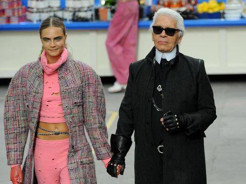 Cara Delevingne & Karl Lagerfeld