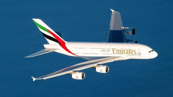 Emirates di Dubai melayani perjalanan jarak jauh dari ke Auckland. Inilah rute non-stop terpanjang Airbus A380 sejauh 14.193 kilometer selama 10 jam (CNN Travel)