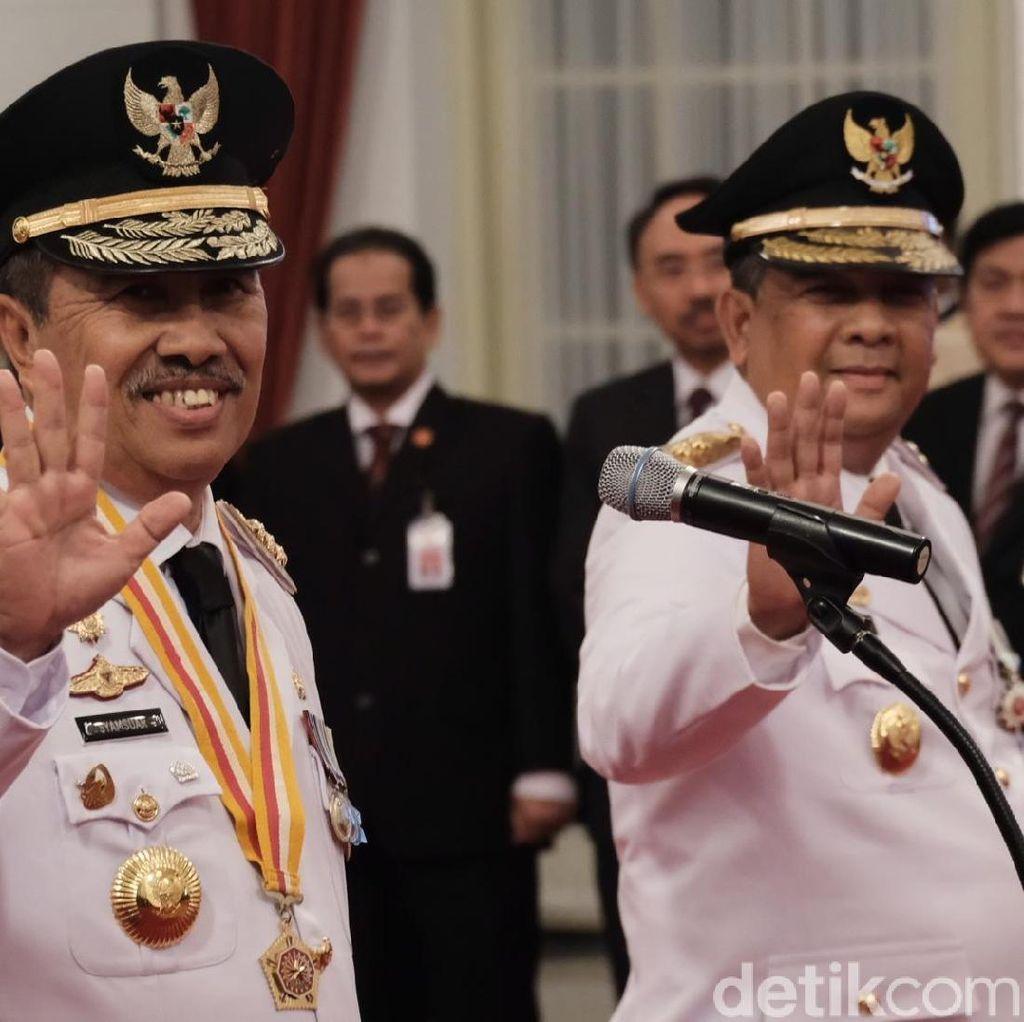 Jokowi Lantik Syamsuar-Edy Jadi Gubernur dan Wakil Gubernur Riau