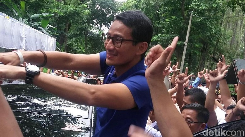 Prabowo Dibela JK Soal Tanah, Sandiaga: Kami Sangat Bersyukur