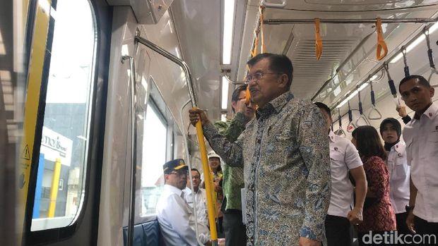 Ditemani Anies dan Menhub, JK Jajal MRT Jakarta dari HI ke Lebak Bulus