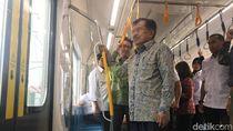 Jajal MRT Jakarta, JK: Kita Butuh Minimum 200 Km dalam 10 Tahun