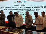 KPK Serahkan Barang Rampasan Rp 110 M ke BNN dan Kejagung