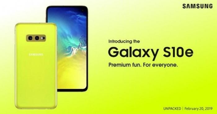 Bocoran iklan Galaxy S10e. Foto: istimewa