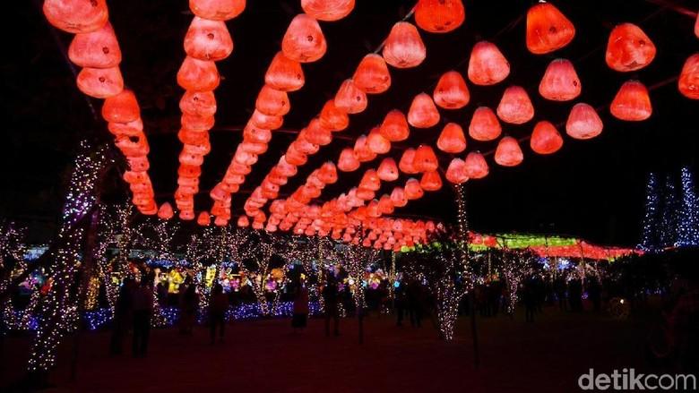 Suasana Taiwan Lantern Festival 2019 (Kurnia/detikTravel)
