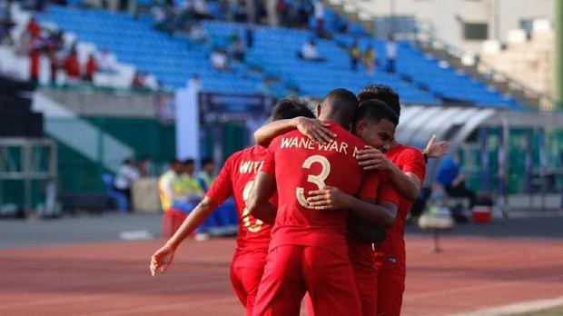 Marinus Wanewar mencetak dua gol kemenangan Timnas Indonesia U-22.