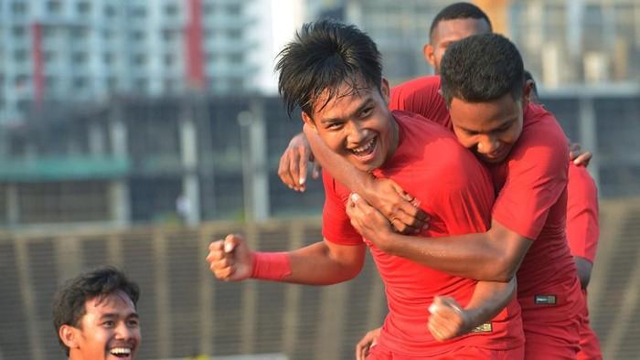 Ada cerita perjuangan dengan bisul di balik kemenangan Timnas U-22. (Foto: Nyoman Budhiana/Antara Foto)