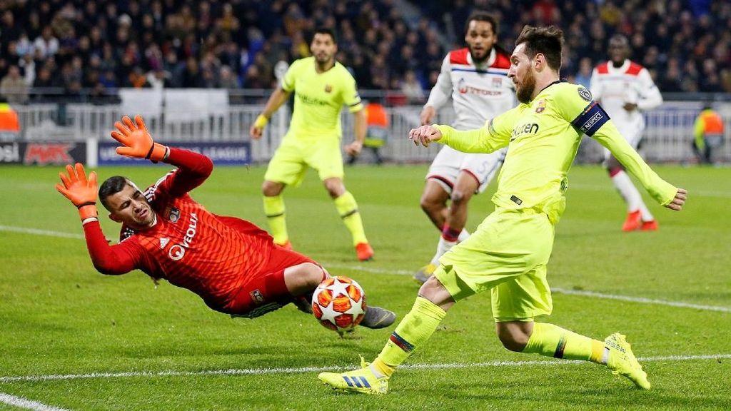 Hasil Liga Champions: Lyon vs Barcelona Selesai 0-0