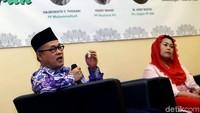 Pengurus Pusat Muhammadiyah Hajriyanto Y. Thohari, turut memaparkan pandangannya terkait kondisi Indonesia masa kini dalam diskusi yang bertema Hijrah Menuju Indonesia Maju.