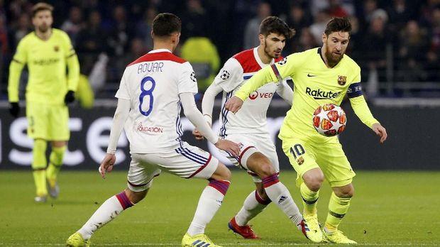 Lionel Messi tetap andalan Barcelona melawan Lyon.