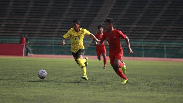 Timnas Indonesia U-22 ditahan imbang Malaysia.