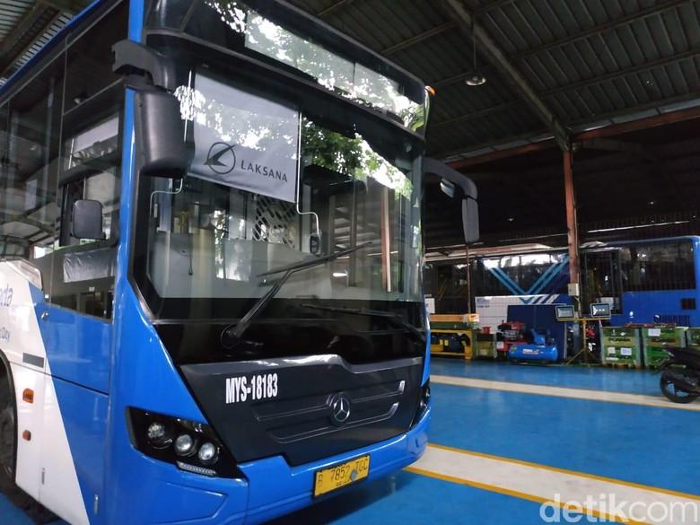 Bus Transjakarta Foto: Ridwan Arifin