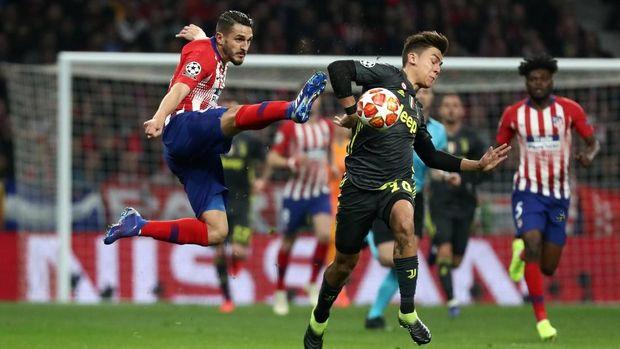 Permainan keras Atletico sukses mengganggu pemain Juventus.