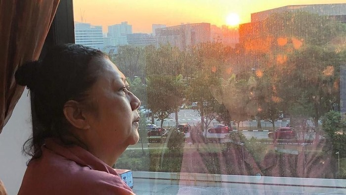 Ani Yudhoyono saat menjalani perawatan di rumah sakit (Instagram @aniyudhoyono)