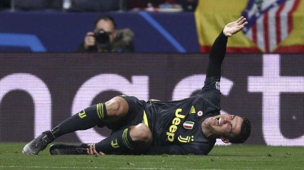 Cristiano Ronaldo kesulitan saat bermain di Atletico Madrid.