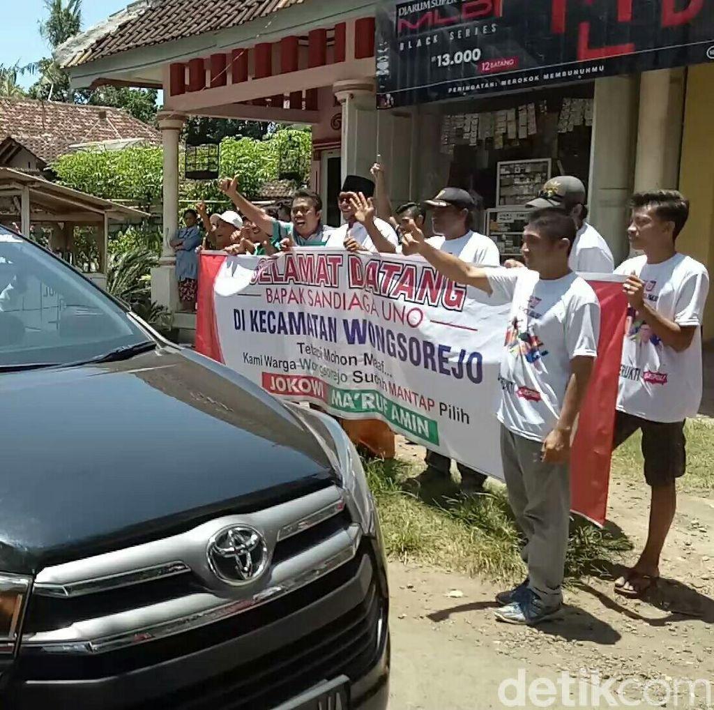 "Sandiaga ke Banyuwangi: Geberan Motor Vs Teriakan ""Jokowi"""