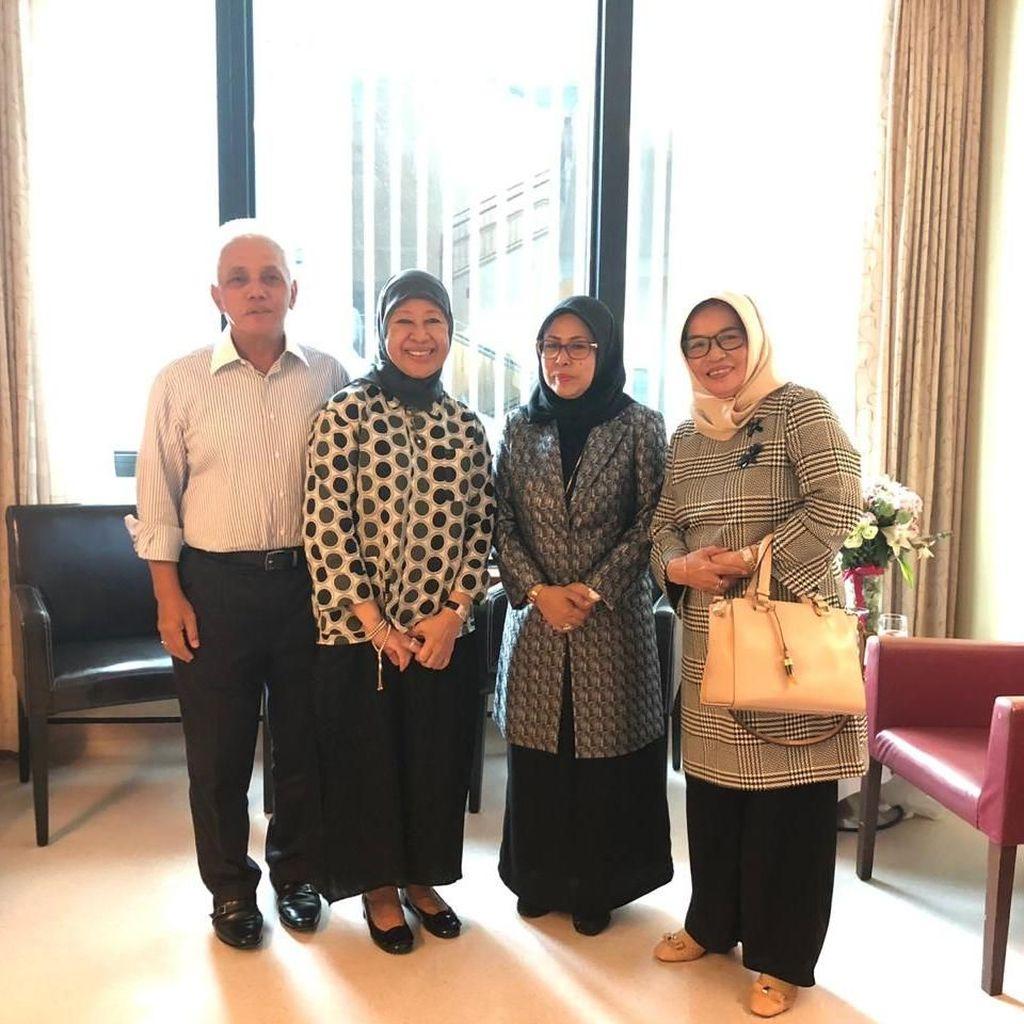 Jenguk Ani Yudhoyono, Putri Maruf Amin Sampaikan Salam Abahnya