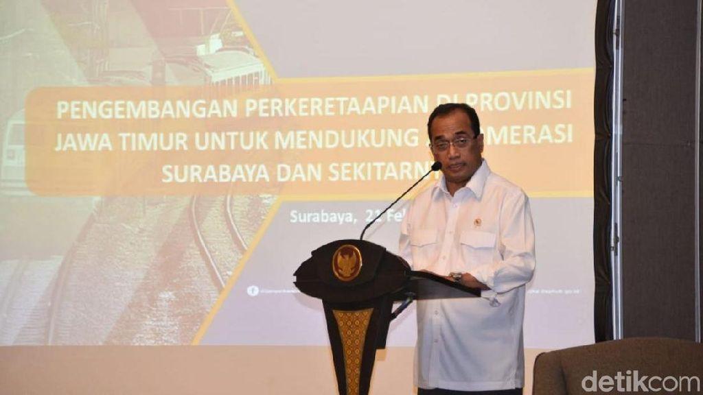 Dapat Hibah dari Jerman, Menhub Mau Kembangkan KA Regional Surabaya