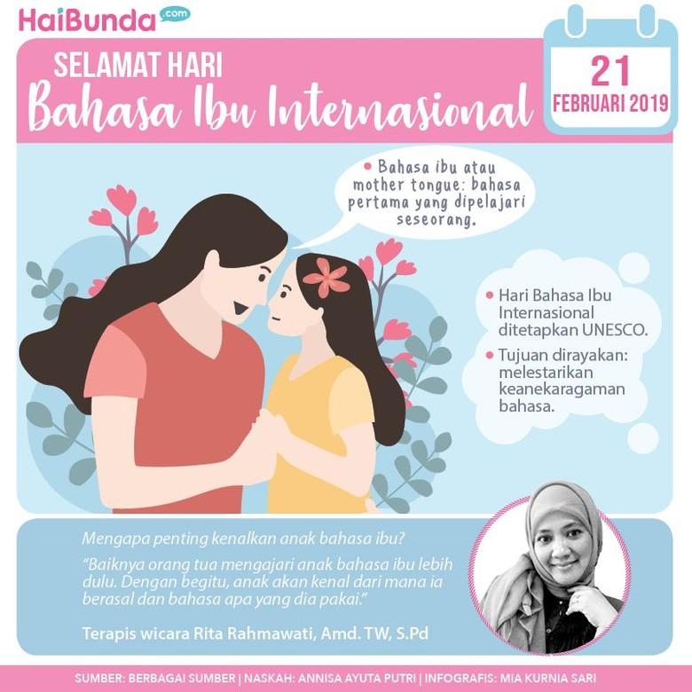Infografis Hari Bahasa Ibu Internasional/ Foto: HaiBunda