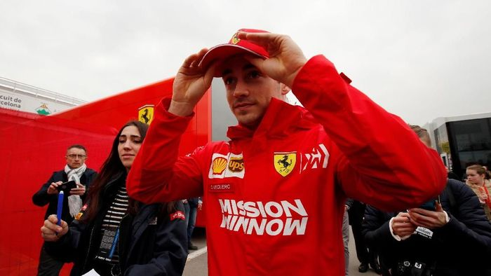 Charles Leclerc akan jadi tandem Sebastian Vettel di Ferrari musim ini (Albert Gea/REUTERS)