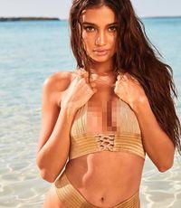 Kelsey Merritt tampil seksi di pemotretan majalah Sport Illustrated