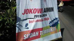 Puluhan Spanduk Jokowi-Maruf di Situbondo Dirusak