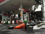 Detik-detik Atap SPBU Ambruk Disapu Puting Beliung di Sukabumi