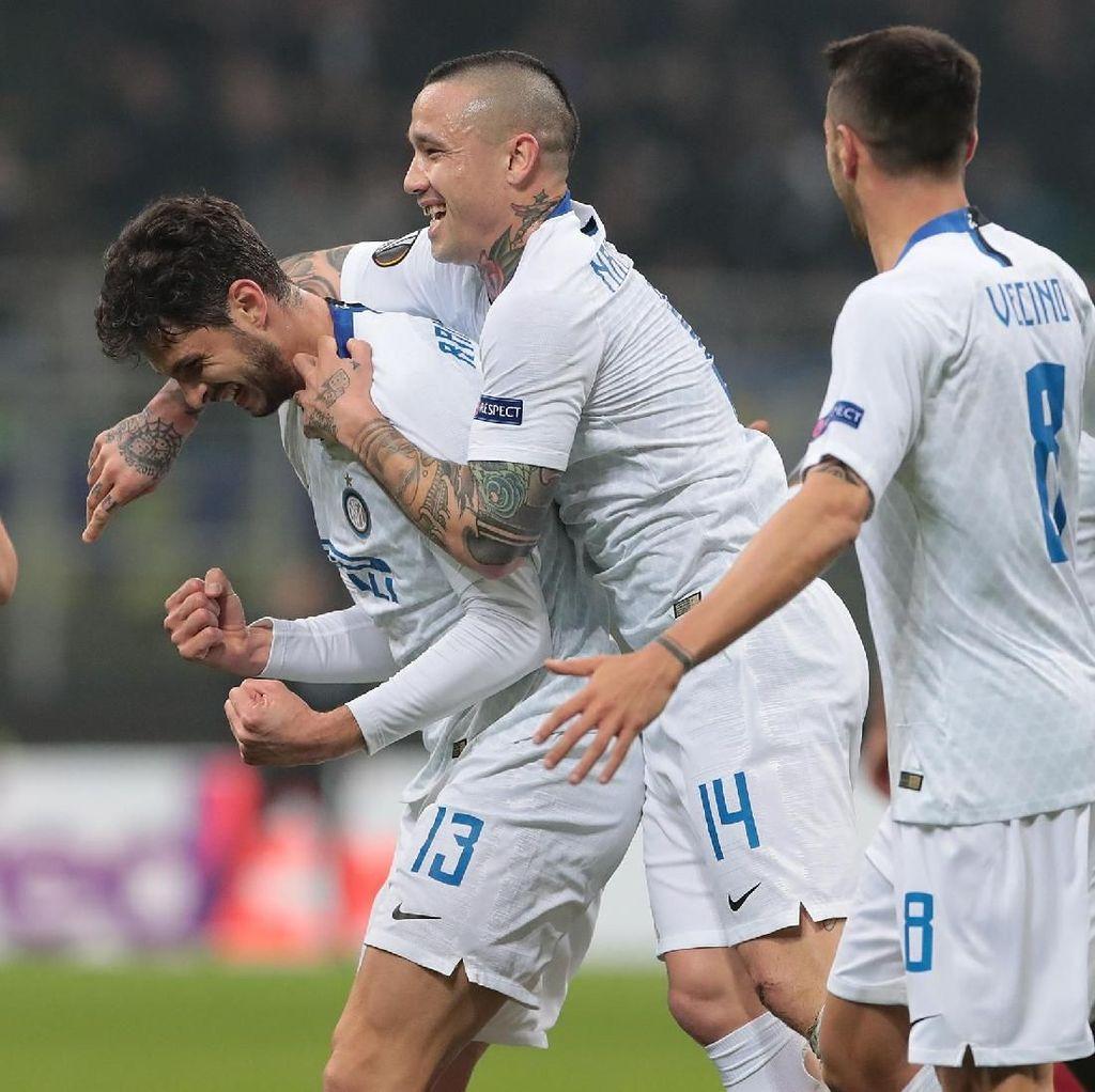 Hasil Liga Europa: Inter ke 16 Besar Usai Menang 4-0 atas Rapid