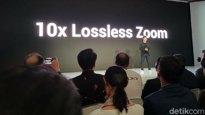 Teknologi 10x Lossless Zoom besutan Oppo. Foto: Anggoro Suryo Jati/detikINET