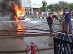 Usai Isi Bensin dengan Tangki Modifikasi, Minibus Ludes Terbakar