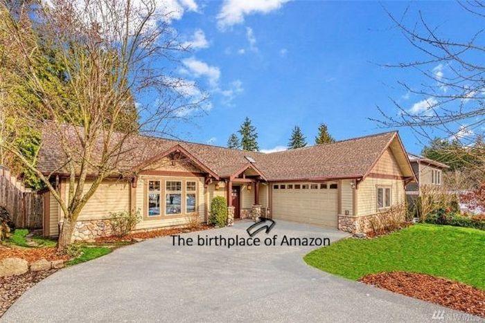 Rumah ini adalah tempat lahirnya Amazon, perusahaan yang membuat Bezos menjadi orang terkaya di dunia saat ini.Foto: Dok. CNBC/John L. Scott Real Estate